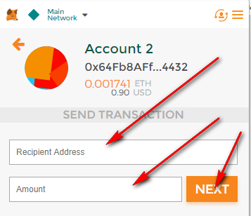 how to send dcn from metamask